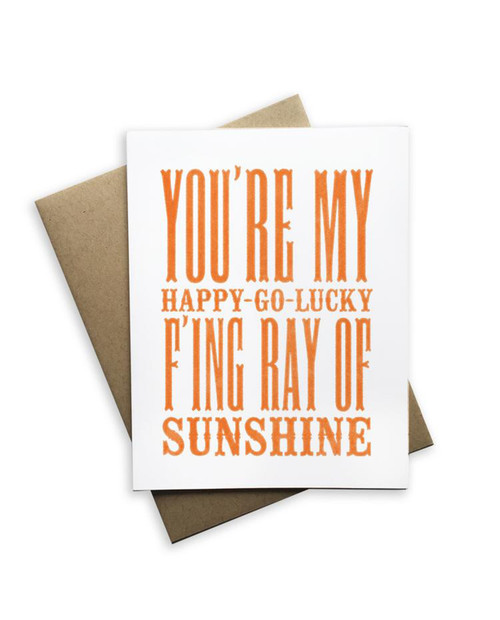 You're My Happy Go Lucky Notecard