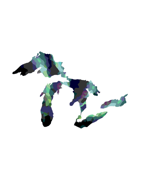 GREAT LAKES PROUD Northern Lights Great Lakes Proud Decal