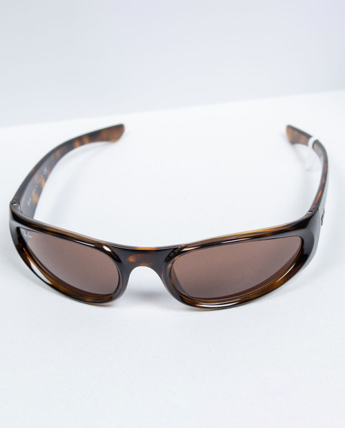 RAY BAN Injected Unisex Sunglasses with Light Havanna Frame and Dark Brown Lens