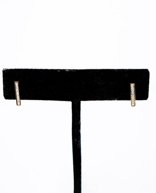 Role Gold Bar Earring
