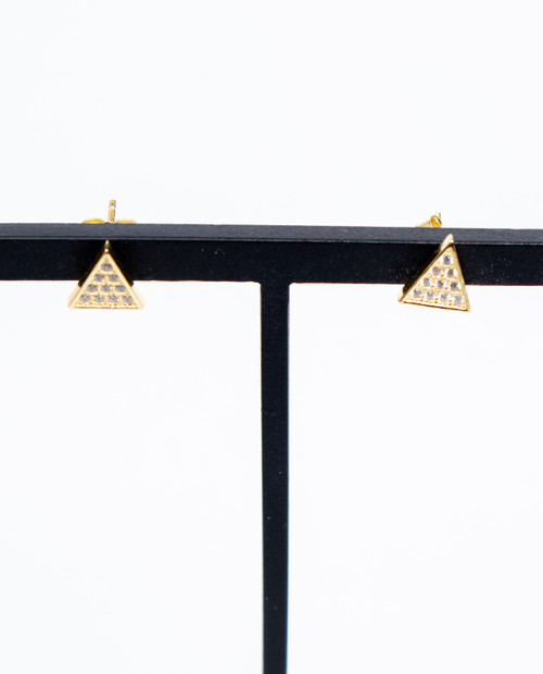 ASHLEY GOLD Triangle Earring