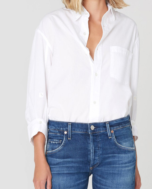CITIZENS OF HUMANITY Womens Kayla Top in Optic White