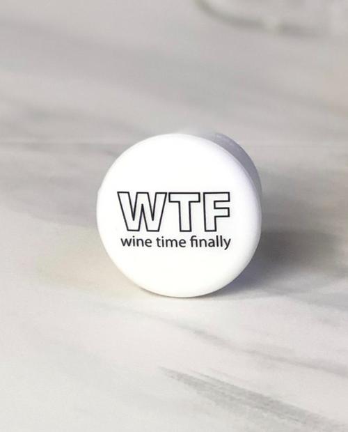 "Womens Slogan Cap in White - ""WTF"" Black Logo"
