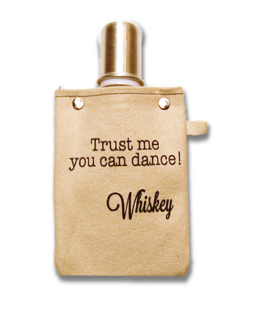 """CAPABUNGA Womens Tote+Able 4oz Flask """"Trust Me, You Can Dance"""""""
