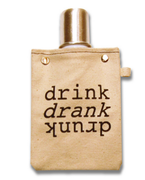 """Womens Tote+Able 4oz Flask """"Drink, Drank, Drunk"""""""