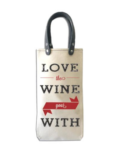"""Womens Tote+Able 25oz Canteen """"Love TheWine You're With"""""""