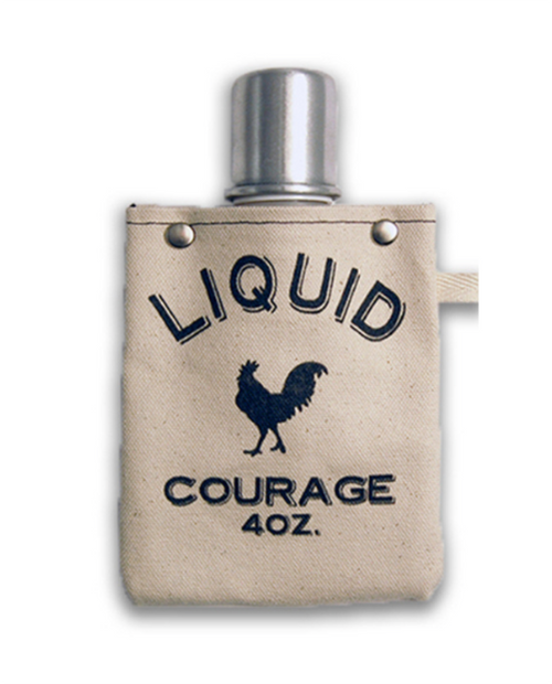 """Womens Tote+Able 4oz Flask """"Liquid Courage"""""""