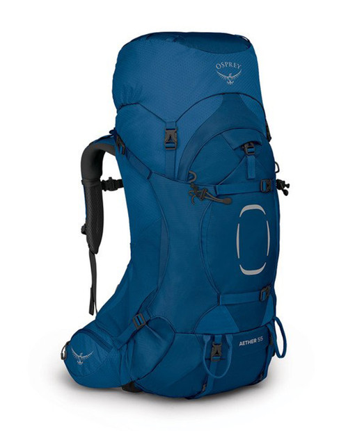 OSPREY PACKS Aether 55 in Deep Water Blue S/M