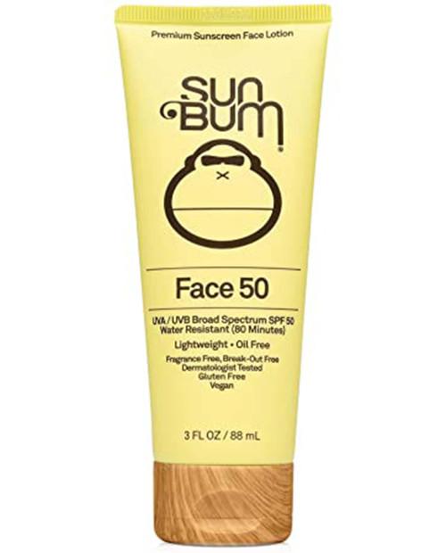 SUN BUM Original SPF 50 Clear Face Sunscreen Lotion 3oz