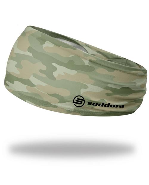 """Camo Headband 3.5"""" Tapered"""
