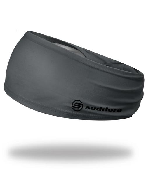 """Gray Headband 3.5"""" Tapered"""