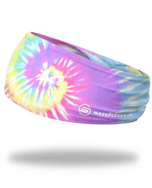 "Pastel Tie-Dye Headband 3.5"" Tapered"