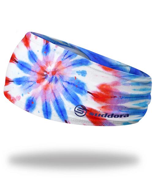 "Patriotic Tie-Dye Headband 3.5"" Tapered"