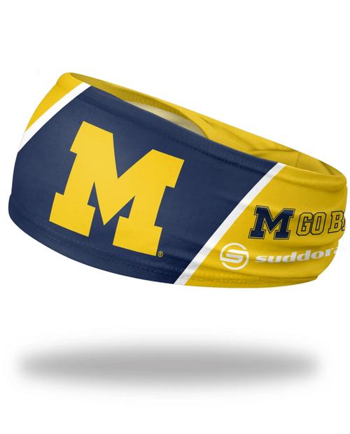 "University of Michigan Headband 3.5"" Tapered"