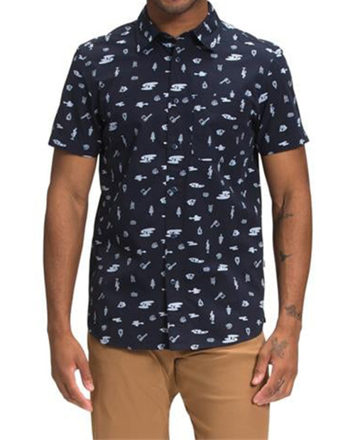 THE NORTH FACE Mens S/S Baytrail Pattern Shirt