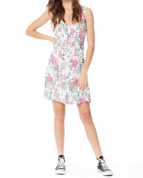 SALTWATER LUXE Womens Maye Mini Dress Tank in Vanilla