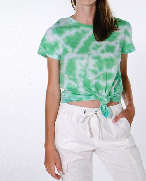 SANCTUARY CLOTHING Womens Perfect Knot Tee Tie Dye