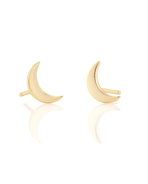 KRIS NATIONS Womens Crescent Moon  in Gold