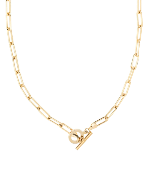 Womens Patron Necklace in Gold