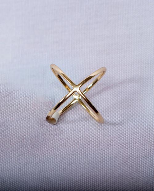 PK JEWELRY Plain X Ring