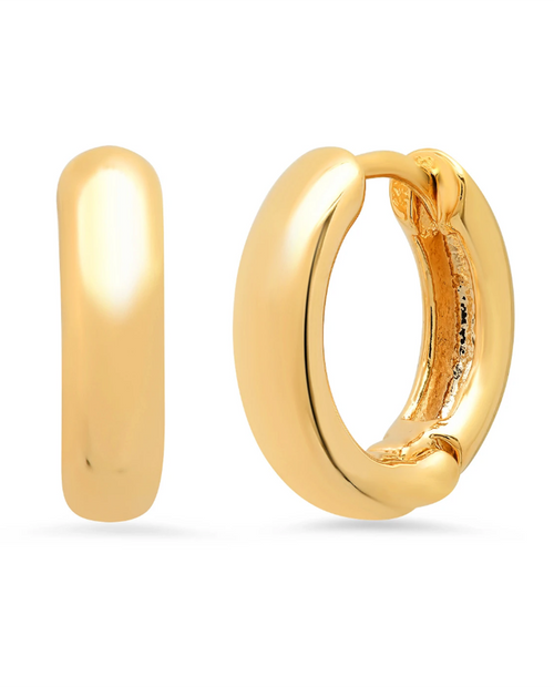 Womens Thick Gold Hoops