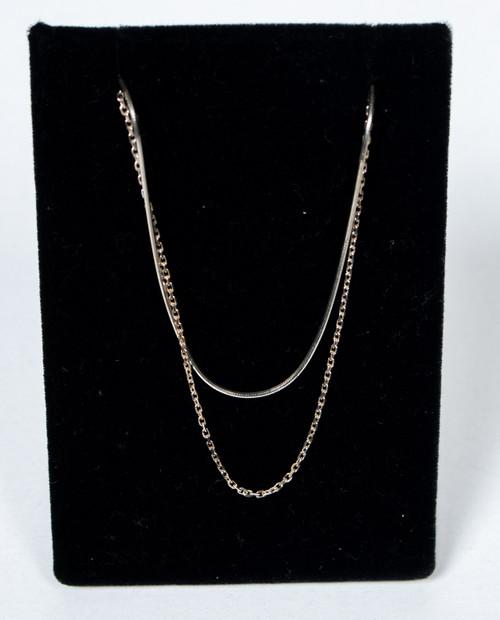 Double Mismatch Chain Necklace