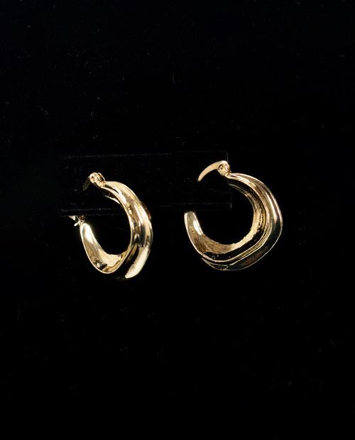 Womens Mercury Hoop in Gold