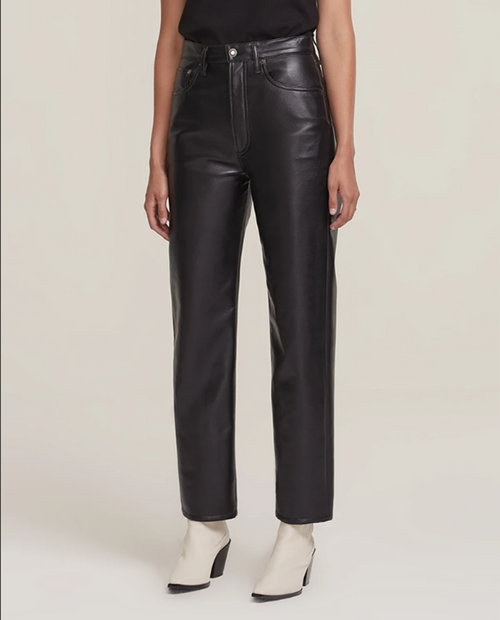 Womens Recycled Leather 90's Pinch Waist