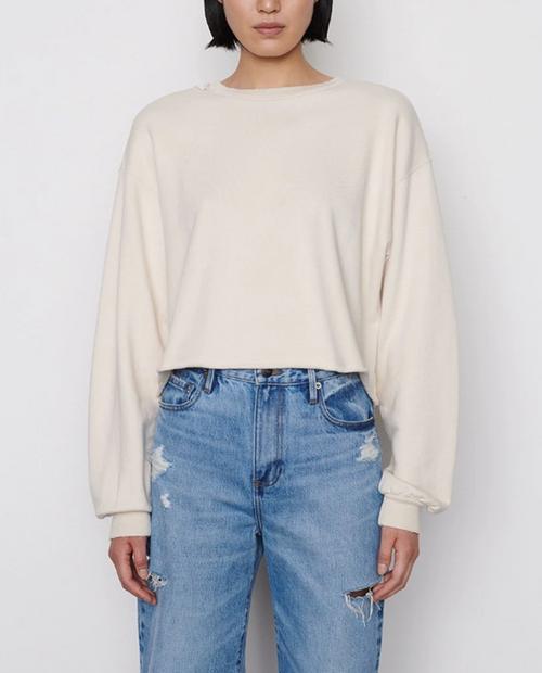 Womens Destructed Boxy Sweatshirt