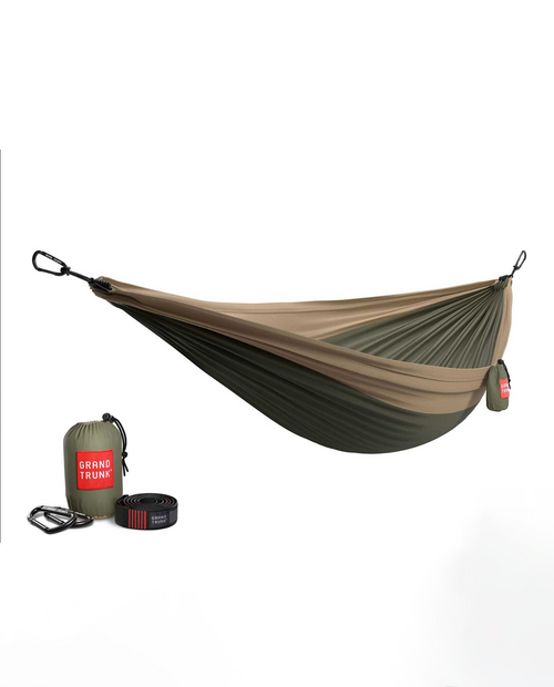 Double Hammock with Strap in Olive / Khaki