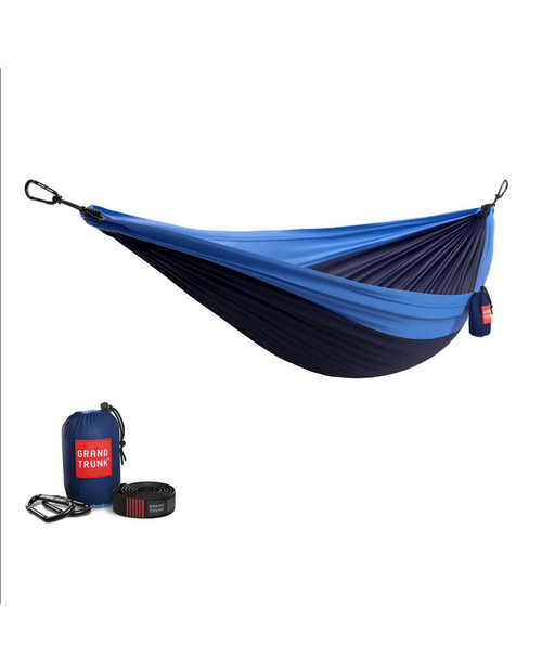 Double Hammock with Strap in Navy / Lt Blue