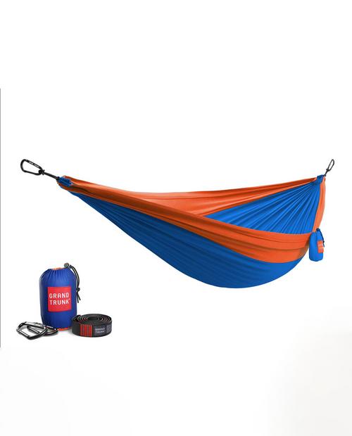 Double Hammock with Strap in  Blue / Orange