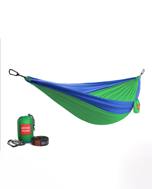 Double Hammock with Strap in  Blue / Green