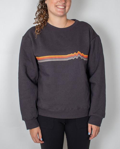 Womens Ridge Rise Stripe Uprisal Crew Sweatshirt