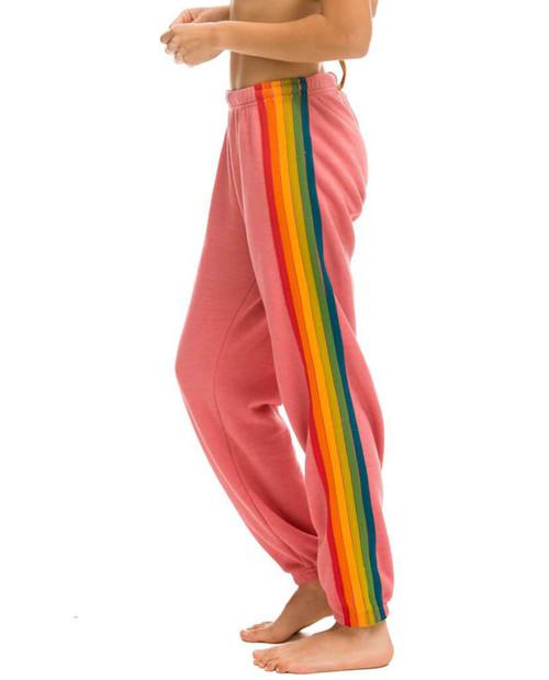 Womens 6 Stripe Sweatpant