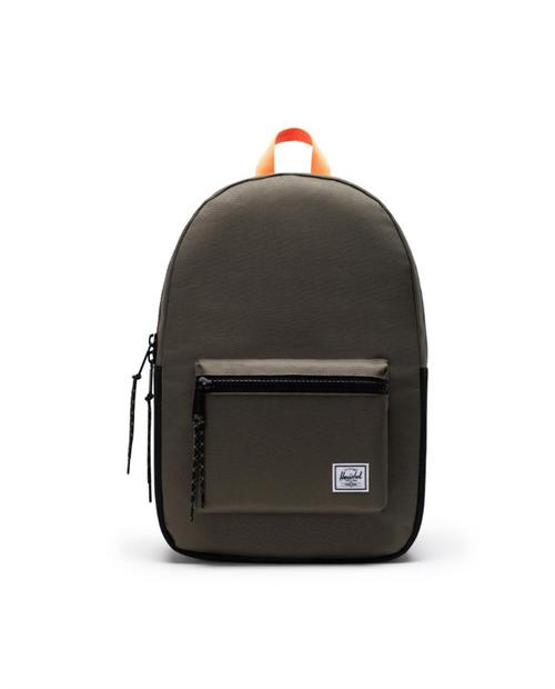 Settlement Backpack in Ivy Green/Black/Shocking Orange