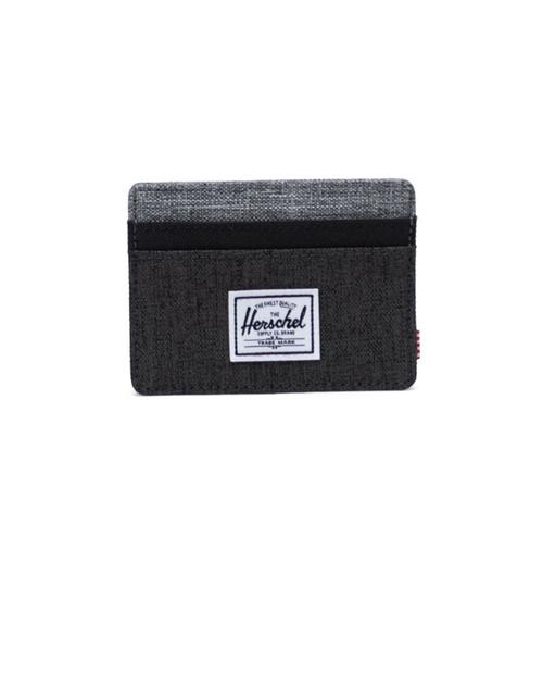 Charlie RFID Wallet in Black Crosshatch/Black/Raven Crosshatch
