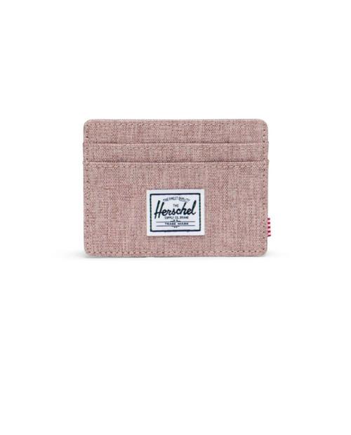 Charlie RFID Wallet in Ash Rose Crosshatch