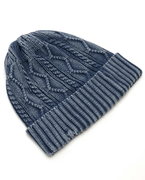 Womens Stormi Washed Cable Beanie