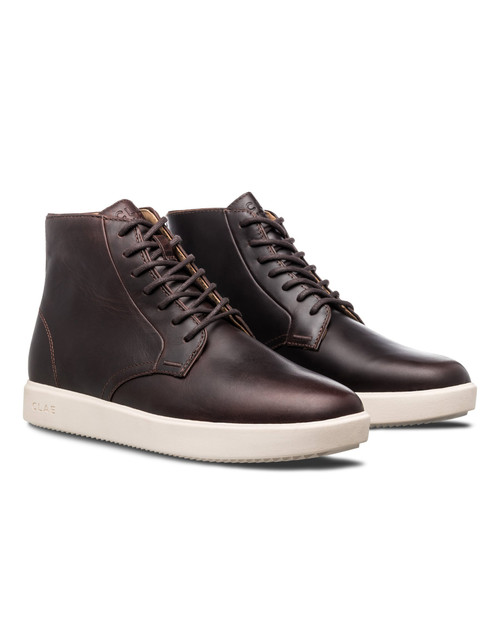 CLAE Unisex Gibson in Walrus Brown Leather