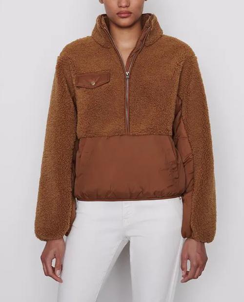 Womens Fleece Mix Pullover