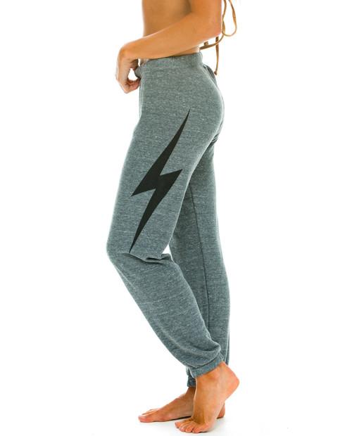 AVIATOR NATION Womens Bolt Metallic Sweatpants
