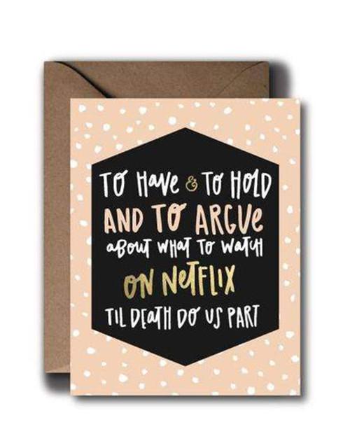 Netflix Anniversary Wedding Greeting Card