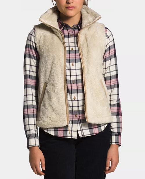 Womens Furry Fleece Vest