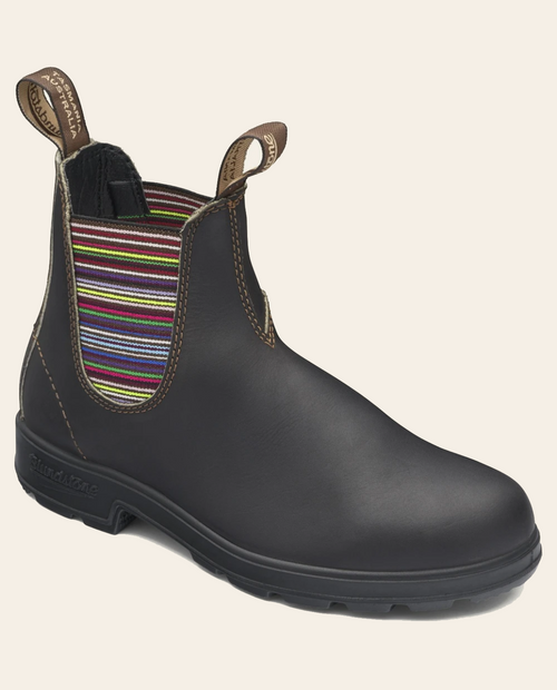 1409 Stripe Elastic V-Sided Boot