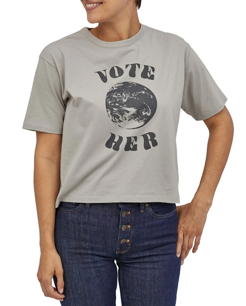 Womens Vote Her Organic Easy Cut Tee