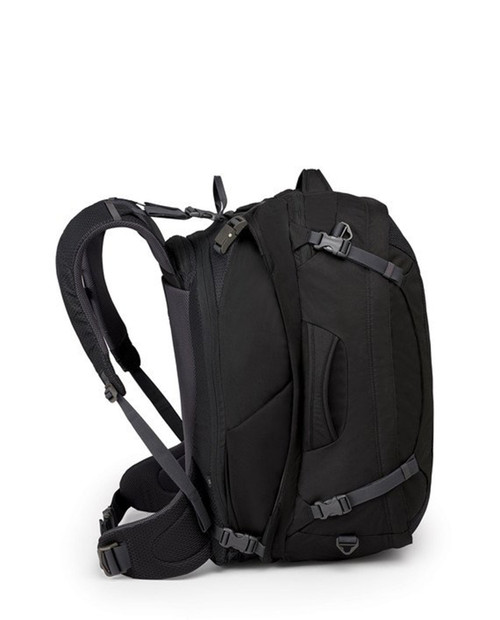 OSPREY PACKS Mens Ozone Duplex 65 Travel Pack - Black