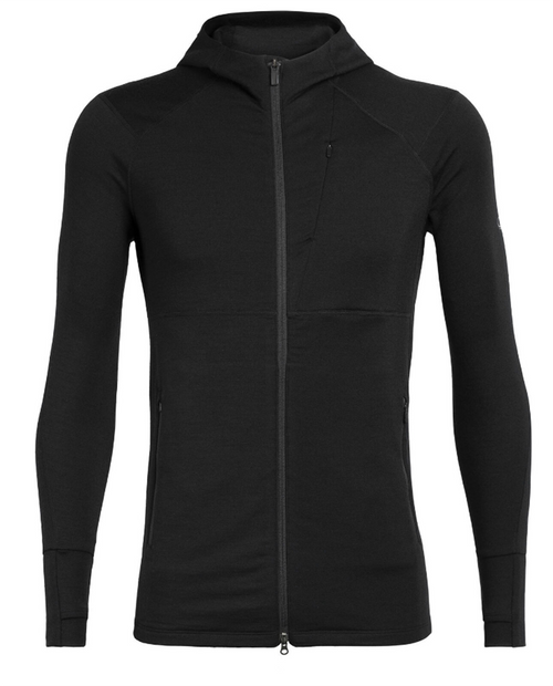 ICEBREAKER Mens Quantum II Long Sleeve Zip Hood