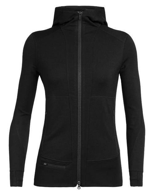 ICEBREAKER Womens Quantum II Long Sleeve Zip Hood