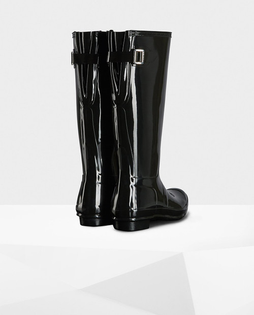 HUNTER BOOTS Womens Back Adjust Glossy